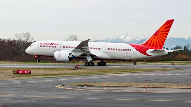 An Air India jet at the Indira Gandhi International Airport in New Delhi. (CNN Wire)