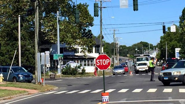 Police are installing stop signs in affected areas. (Old Saybrook Police Department)