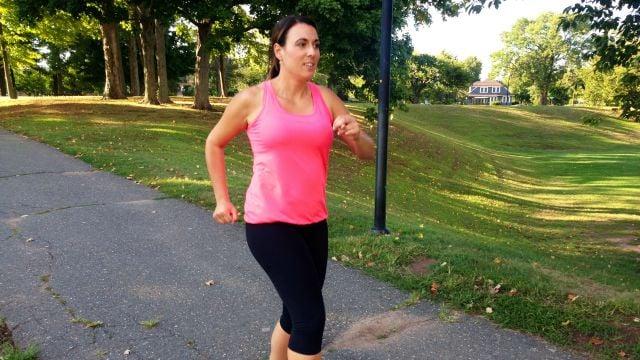 Courtney Zieller is getting ready to run. (WFSB)
