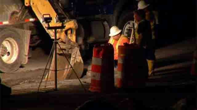 Water main break in Waterbury impacting several dozen homes (WFSB)
