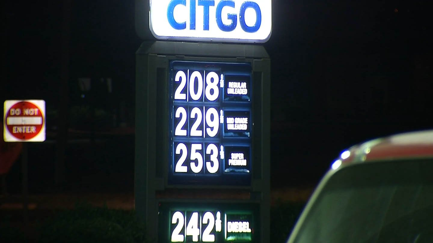 This $2.08 per gallon was the price on Friday at a Citgo on the Berlin Turnpike. (WFSB photo)