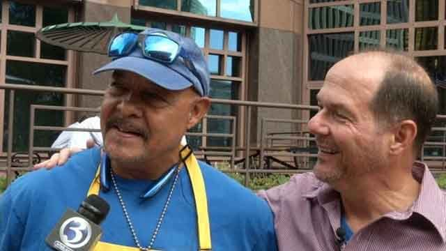 Two brothers who never knew each other met for the first time in Hartford on Tuesday (WFSB)