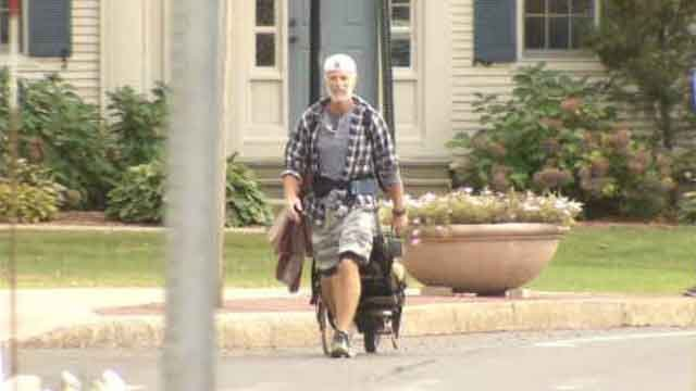 Tom Connolly walked from California to Connecticut, more than 3,000 miles, from California to Connecticut (WFSB)