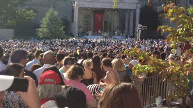 Pope Francis celebrated a mass of canonization of Junipero Serra with about 35,000 people on Wednesday. (WFSB)