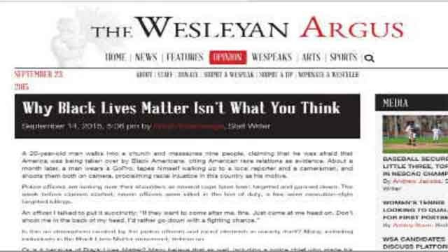 University newspaper editorial causes controversy on campus (WFSB)