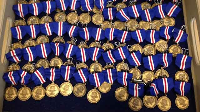 Connecticut Veterans Wartime Service Medals. (WFSB photo)
