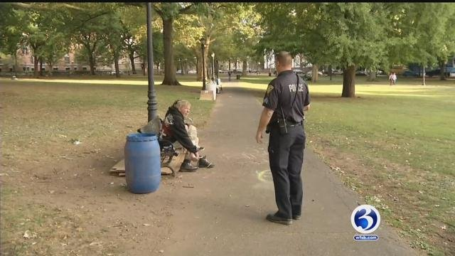 Police are trying to crack down on when it comes to the city green in New Haven. (WFSB)