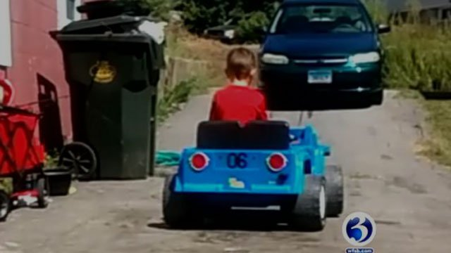 Peyton had his prized Power Wheels stolen from his home in New London. (WFSB)