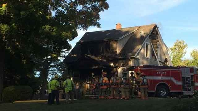 A fire broke out at a home in Bloomfield on Sunday afternoon, causing serious damage. (WFSB)