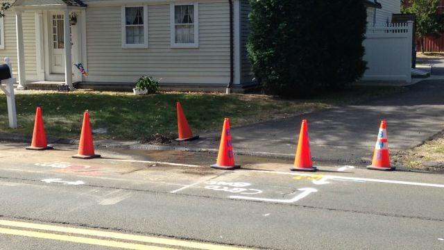 Water main break reported on Jerome Avenue in Bristol. (WFSB)