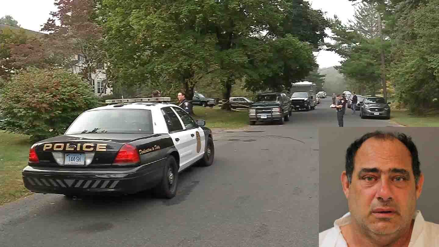 Thomas Infante turned himself in after fleeing the shooting scene, according to police. (Shelton police/WFSB photos)