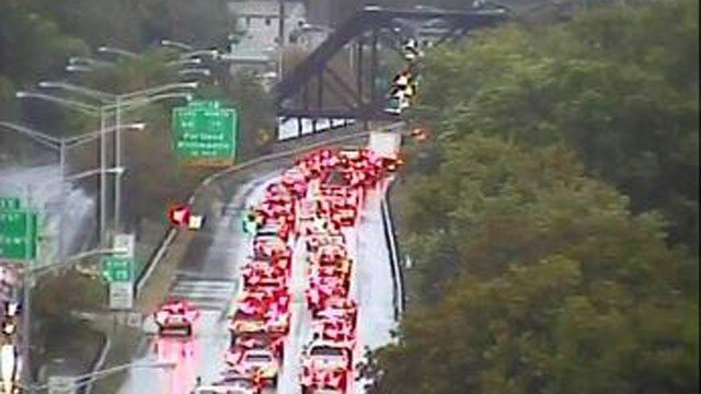 Route 9 north in Middletown was slow-going Wednesday morning. (DOT photo)