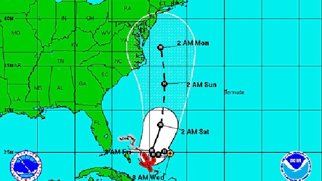 Hurricane Joaquin's track as of 8 a.m.