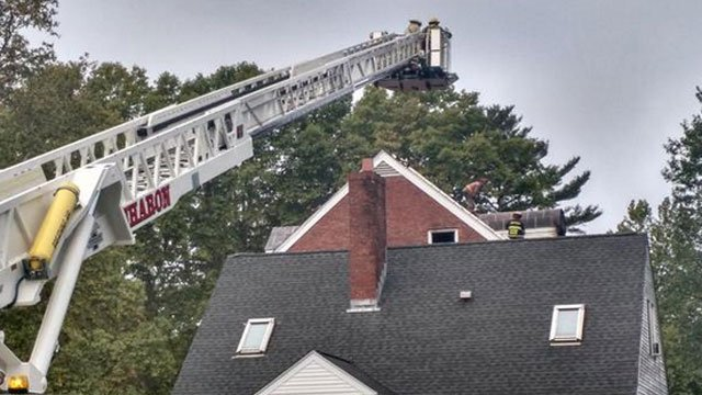 A fire was reported at a dormitory at Hotchkiss School in Lakeville. (Jon Barbagallo)