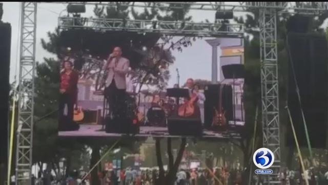 CT music teacher performs before Papal Mass (YouTube)