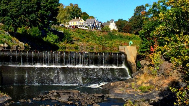 Falls on the Quinebaug River