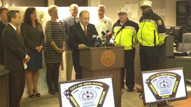 Sen. Martin Looney urges people to be on the look out for price gouging. (WFSB photo)