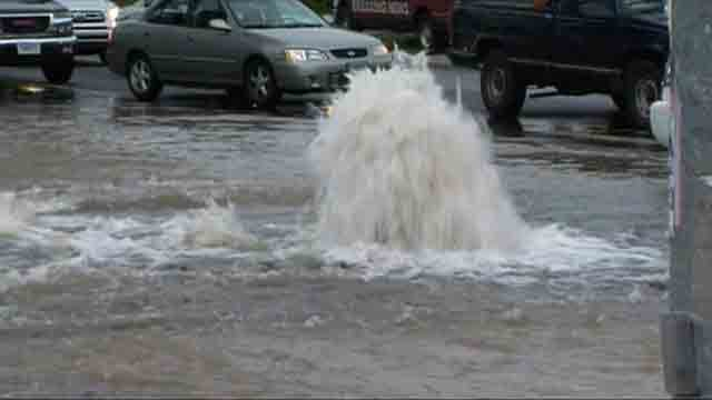 Crews respond to water main break in Hartford (WFSB)
