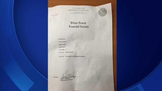 Bridgeport police receive racially-charged letters (Bridgeport Police)