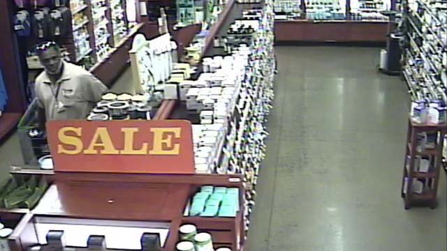Glastonbury police are searching for a man who they said stole frozen shrimp and body wash from Whole Foods Market. (Glastonbury police)