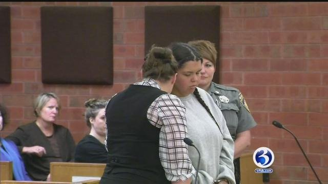Tamara Santana appeared in court on Friday after the death of her 1-year-old. (WFSB)