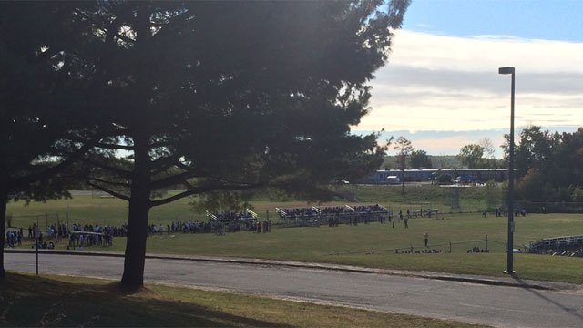Students at Wilby High School in Waterbury were evacuated on Tuesday. (WFSB)