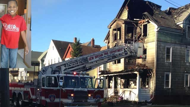 Cade Johnson IV, 11, was killed in a fire in New Britain (WFSB photo)