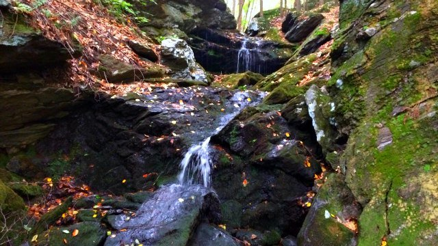 Cascading waterfall at Franklin preserve