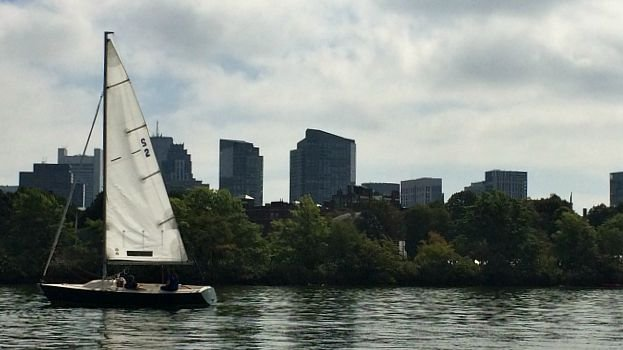 Duck Tour takes us to the Charles River