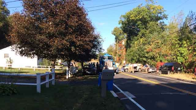 A serious crash closed a road in Bristol Thursday morning. (WFSB)