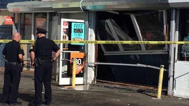 Hartford police arrested a woman accused of slamming a car into a building and fleeing the scene. (Hartford police)