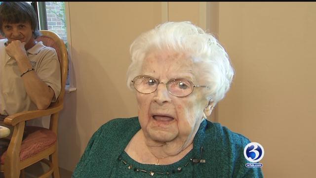 Juliette Hammond celebrated her 108th birthday on Thursday. (WFSB)