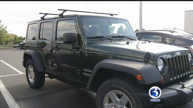 Police are warning residents about the theft of Jeep Wrangler doors. (WFSB)