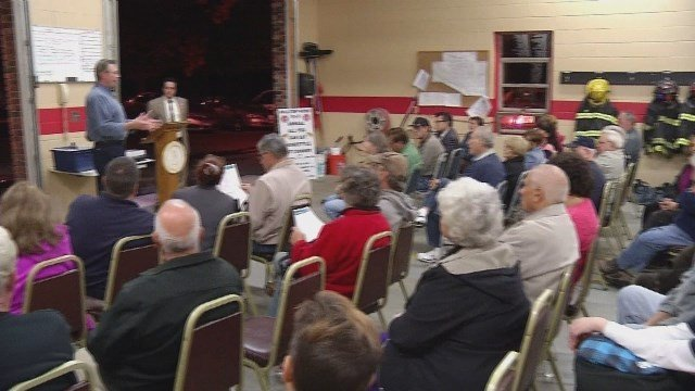 Residents gathered on Thursday after a series of beark-ins. (WFSB)