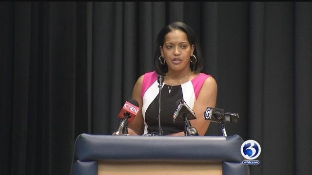 Jahana Hayes wins teacher of the year in Connecticut. (WFSB)