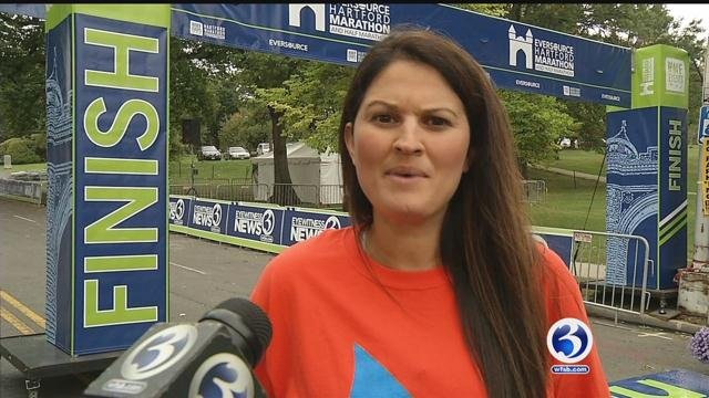 Courtney Cooper has MS and is running the Eversource Hartford 5K. (WFSB)