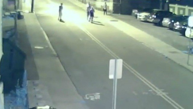 A violent assault was caught on camera and now, police for the people responsible. (New London police)