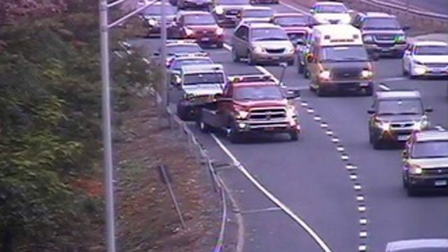 Traffic delays caused by crash on Route 2 eastbound in East Hartford. (DOT)