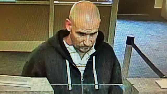 Man wanted in Manchester bank robbery (Manchester Police)