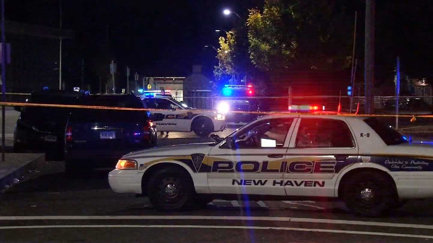 A man was found shot in a parking lot off of Davenport Avenue in New Haven. (WFSB photo)