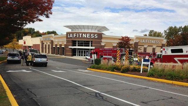 LA Fitness near the Farmington/New Britain line was evacuated on Wednesday. (WFSB)
