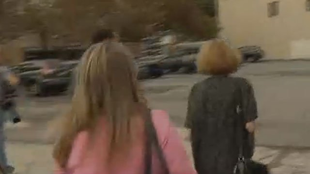 Jennifer Connell left court on Tuesday without talking to the media. (WFSB)
