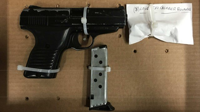 The gun allegedly found in the suspects' vehicle. (Hartford police photo)