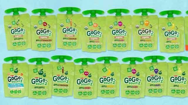 GoGo Squeez recalls pouches because of mold (GoGo Squeez)