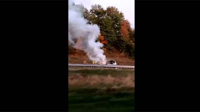 Vehicle fire closes part of Route 9 north (iwitness)