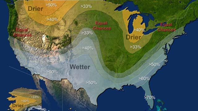 The 2016 winter outlook. (NOAA photo)