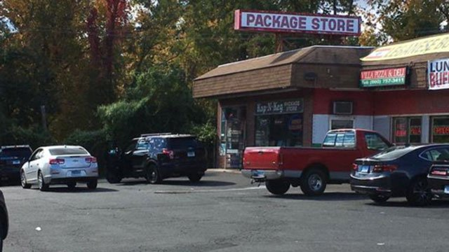 Armed robbery at Kap-N-Keg in South Windsor is under investigation. (WFSB)