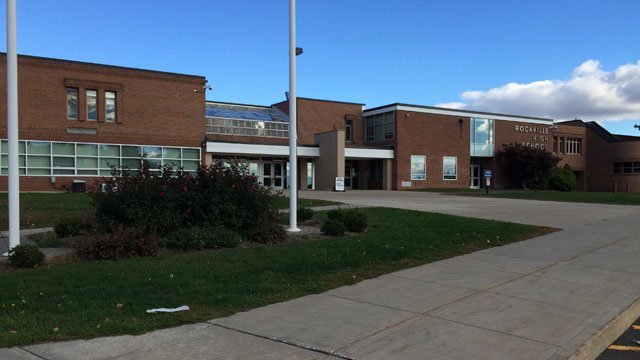 Officials briefly placed Rockville High School into lockdown on Friday. (WFSB)