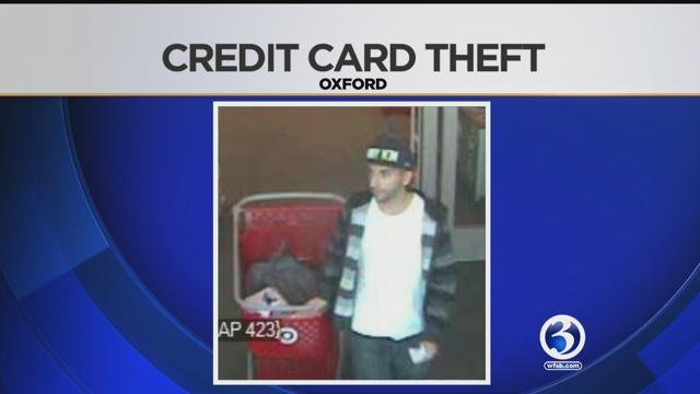 Police are searching for this man accused of stealing a credit card from a wallet in Oxford. (CT State Police)