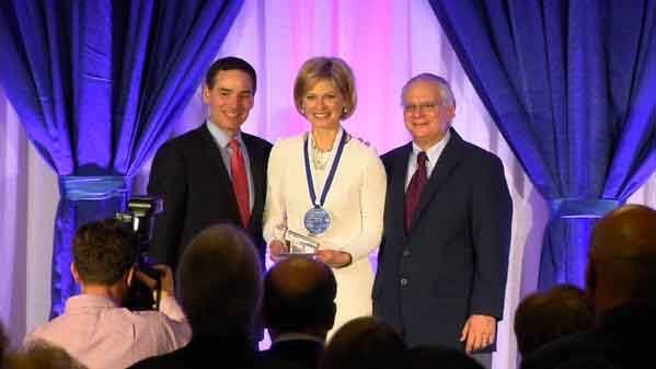 Denise D'Ascenzo was inducted into the Connecticut Broadcasters Association's Hall of Fame on Tuesday (WFSB)